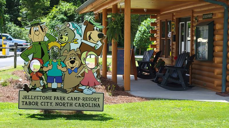 Yogi Bear and family are seen at the Jellystone Park Camp-Resort in Tabor City.