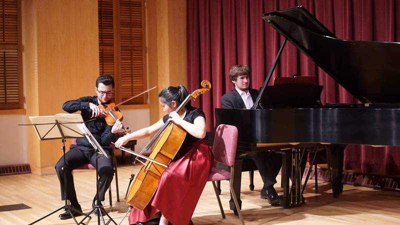 Hoffmeyer and his 'piano trio,' have been playing together since high school.  They're friends...