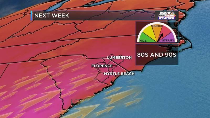 Turning hot again next week.