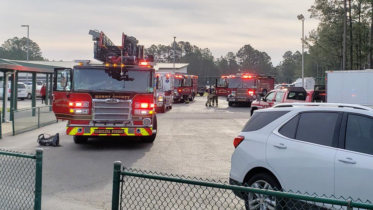 Horry County Fire and Rescue responds to reports of gas odor at Carolina Forest Elementary...