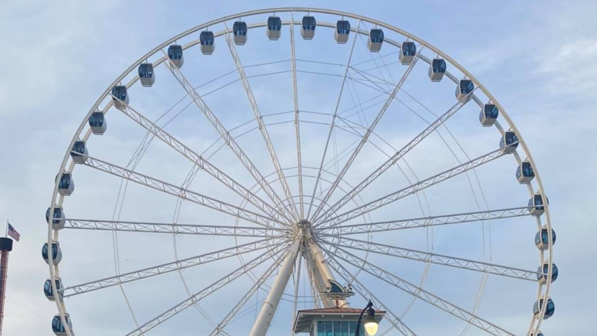 All 42 gondolas have been reattached to the Myrtle Beach SkyWheel ahead of its reopening later...