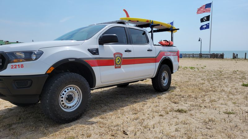 Photo of Ocean Rescue truck parked in Myrtle Beach