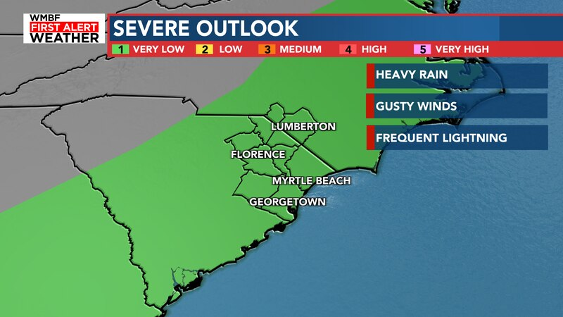 A strong storm or two is possible for this afternoon.