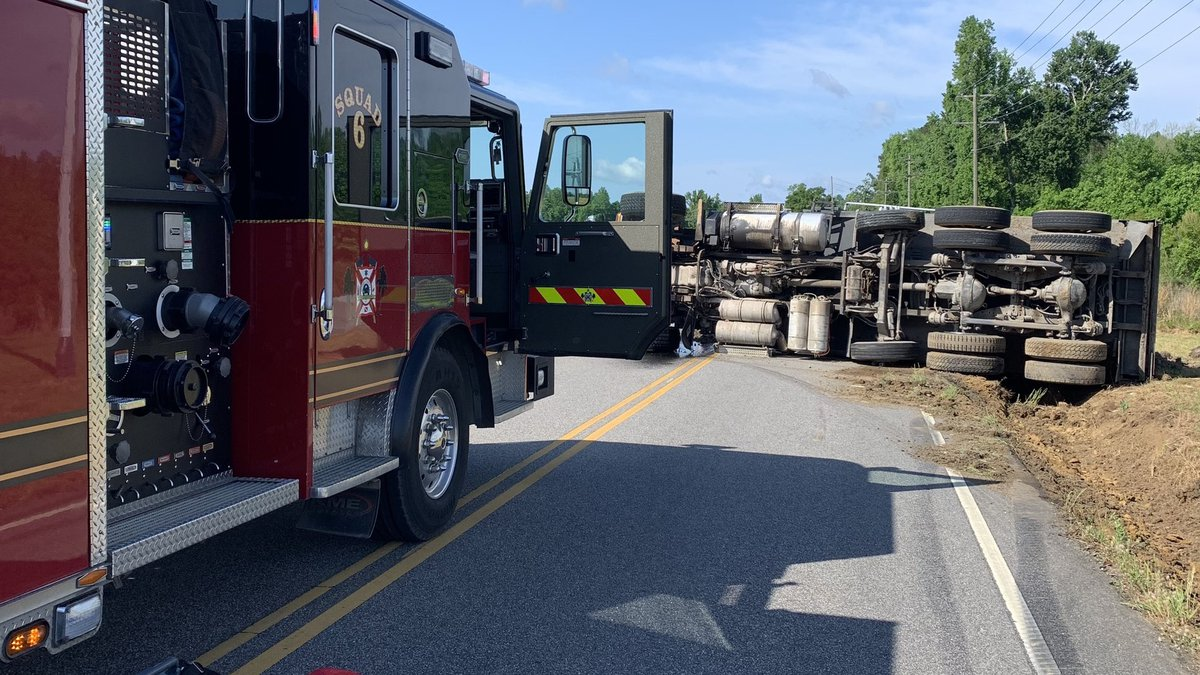 A rollover crash involving a dump truck happened Wednesday morning in Little River.