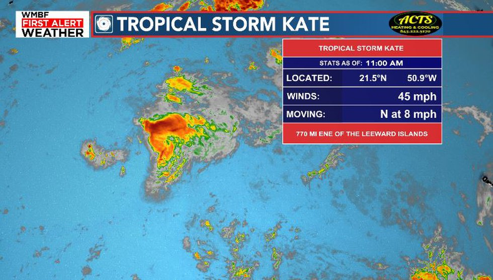 Tropical Storm Kate Forms