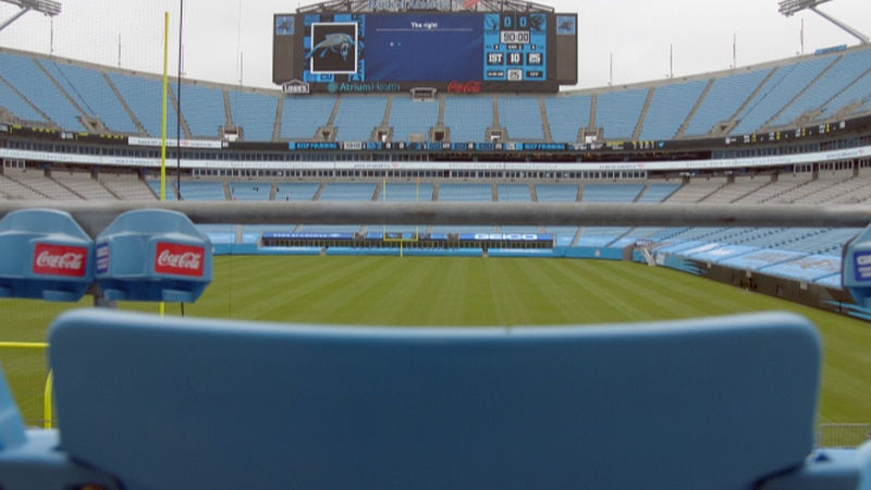 5240 fans will be allowed inside Bank of America Stadium on Sunday.