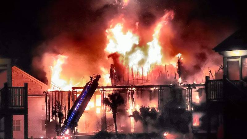 An April 2018 fire destroyed a condo building at Windsor Green in the Carolina Forest area....