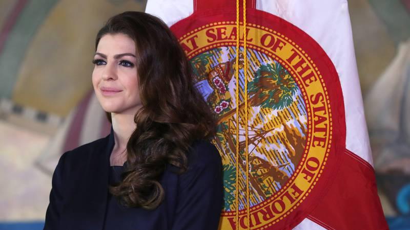 Wife of Governor Ron DeSantis, Casey DeSantis, is shown, Wednesday, Jan. 9, 2019, in Miami. (AP...