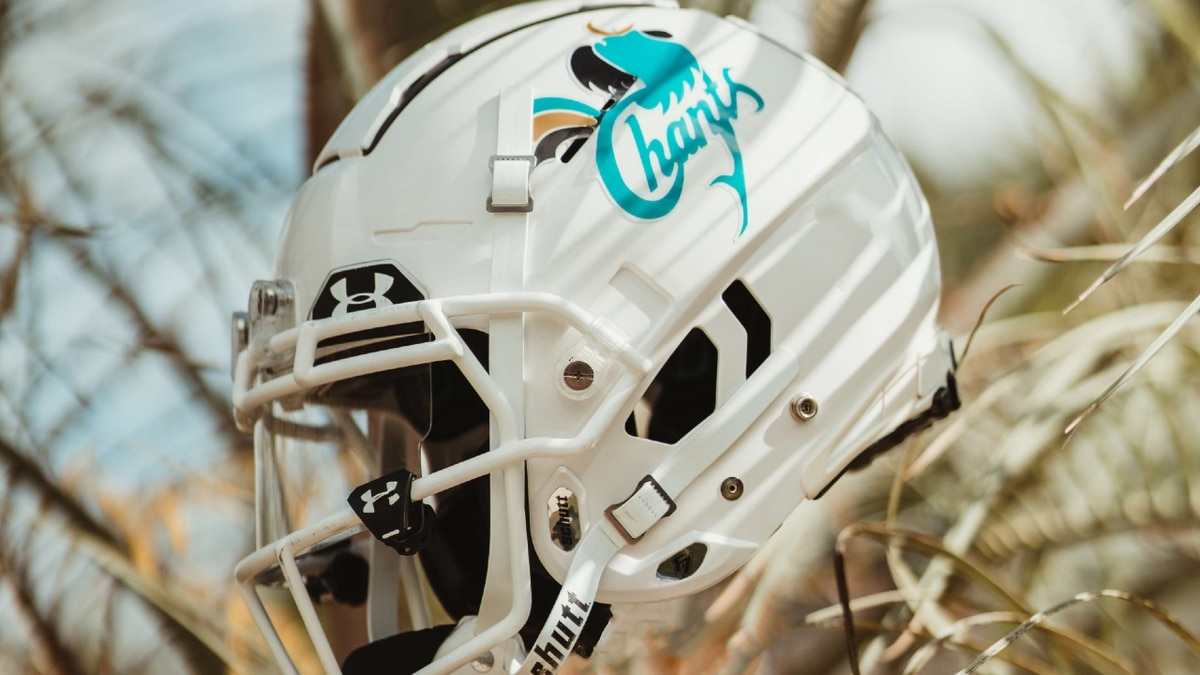 The Chants will wear helmets with the university's old logo on Saturday. The logo was used...