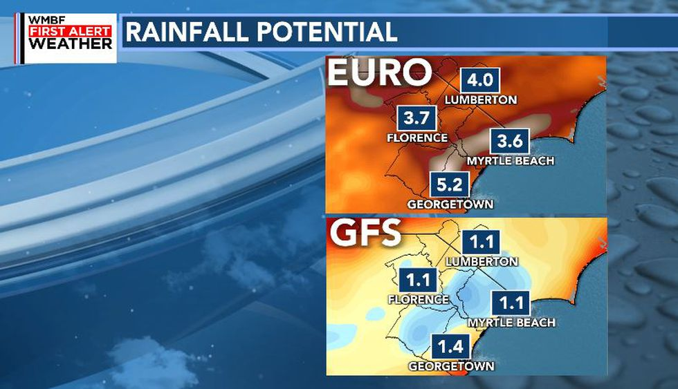 Rainfall could reach several inches across the area Thursday and Friday as the remnants of...