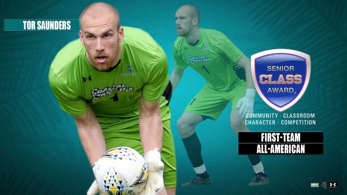 CCU goalkeeper Tor Saunders named Senior CLASS Award first-team All-American