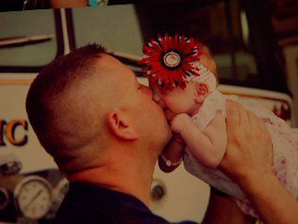 Daddy, Marc Hadden, and his baby girl Grace (Source: Marc Hadden)