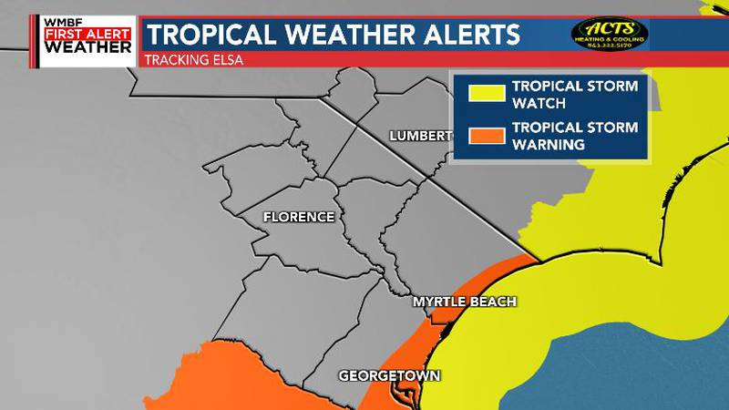 Tropical Storm Warnings have been extended to include the Grand Strand. This includes Myrtle...