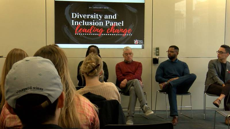 This discussion was organized in December by the Sigma Omega Upsilon, a business fraternity on...