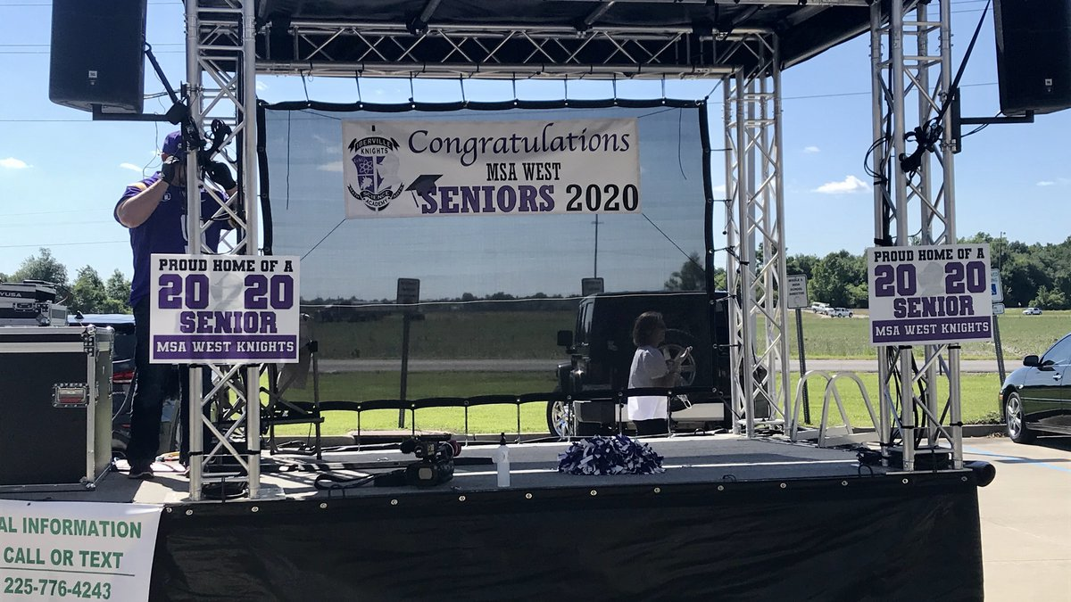 Portable Stage for 2020 Seniors at MSA West in Plaquemine