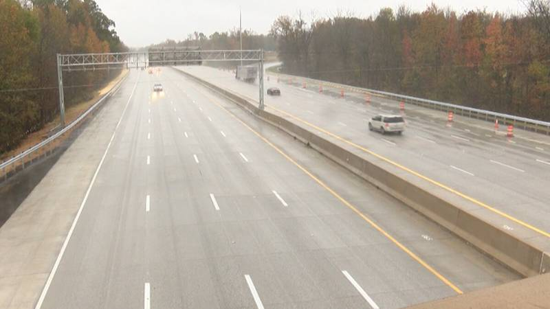 The incident happened on I-85 north near mile marker 67 on Tuesday just after 10:00 am.