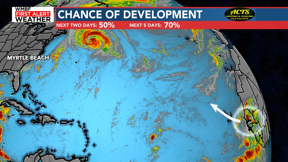 A wave coming off the coast of Africa poses a high chance of development over the next five days.