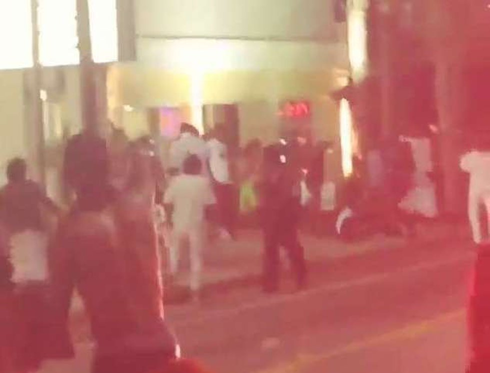 Video showing a fight outside the Bermuda Sands Motel. Source: Anonymous