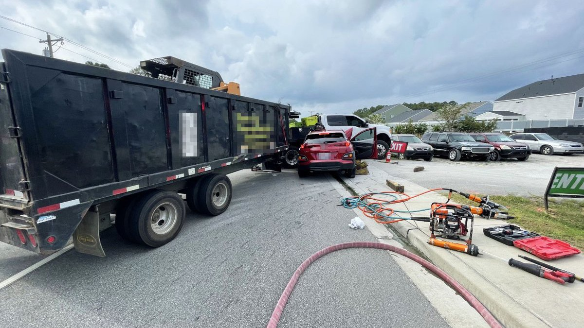 Injuries are reported following a two-vehicle crash Monday morning in the Myrtle Beach area.