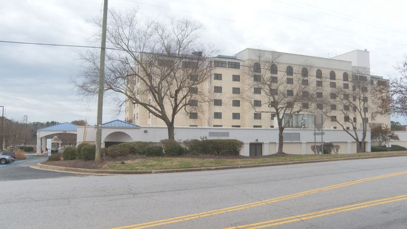 The child fell from a railing inside the Embassy Suites off Greystone Boulevard, officials...