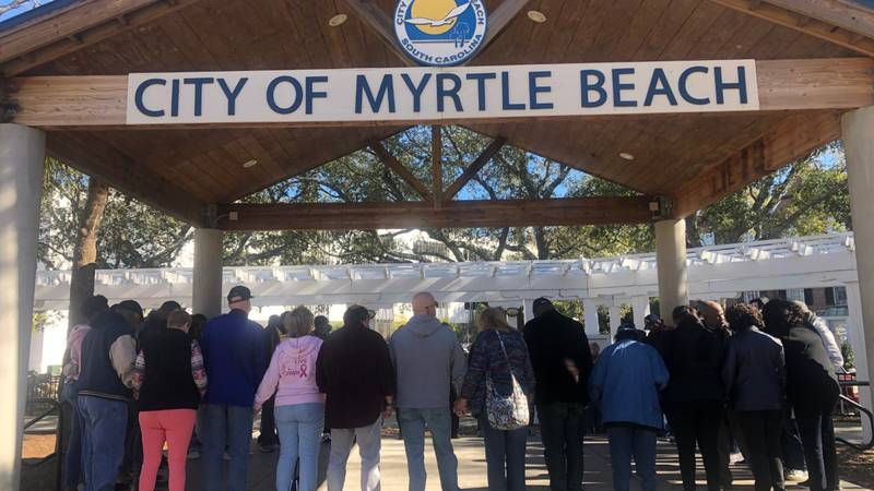 The annual Faith Walk was held Wednesday in Myrtle Beach to kick off 2020.