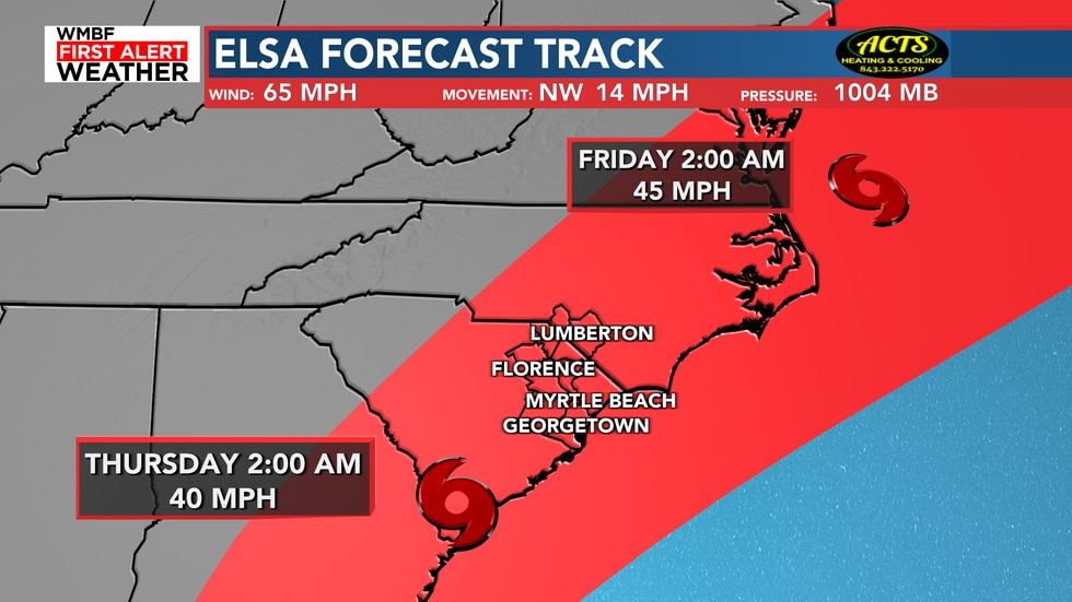 Not much change in the 5 AM update when it comes to the track.