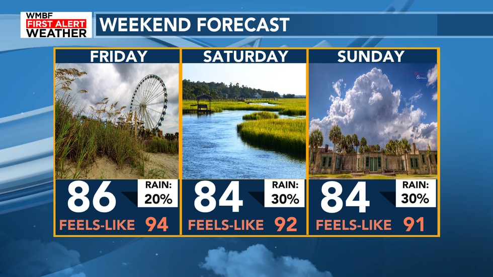Here's a look at the forecast for the weekend.