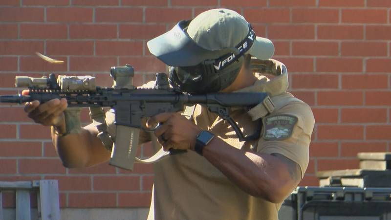 Police hold active shooter training at Waterway Elementary School in Little River.