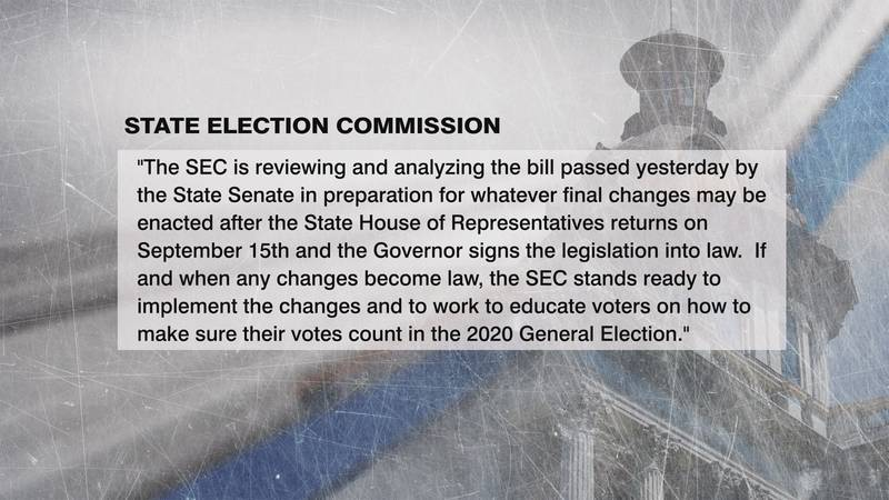 The South Carolina State Election Commission released this statement regarding absentee voting...