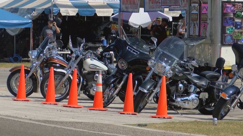 Bikers make their way to Murrells Inlet for Fall Rally.