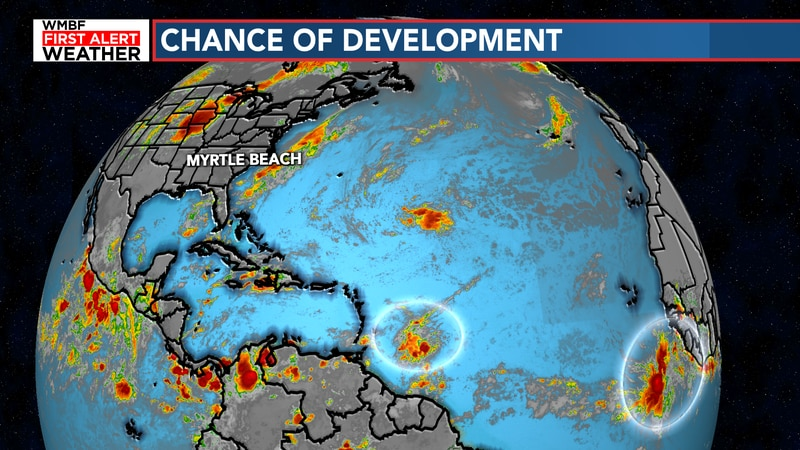 We're keeping an eye on two chances of development in the tropics.