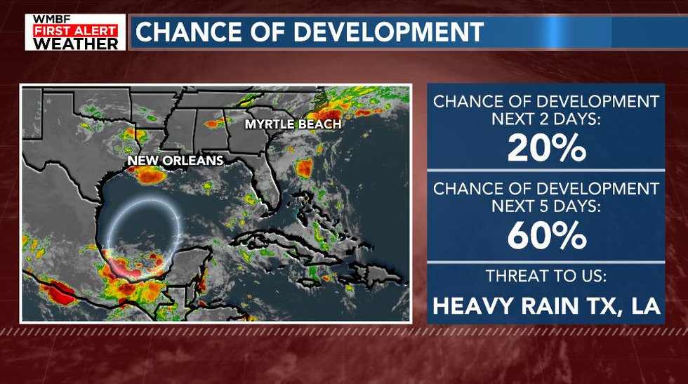 Area to watch in the Gulf.