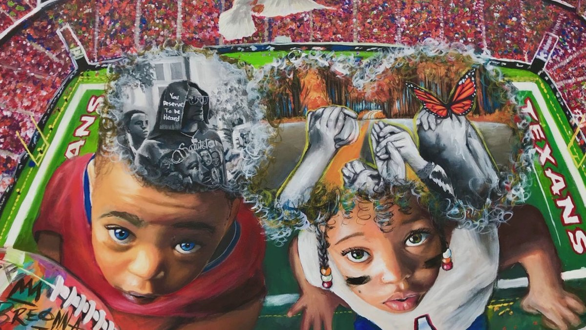Ija Charles, 23, is one of 17 artists to have their worked featured as part of the NFL Artist...