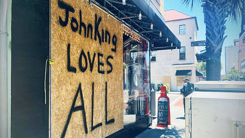 Charleston businesses are recovering from the riots that took place over the weekend in...